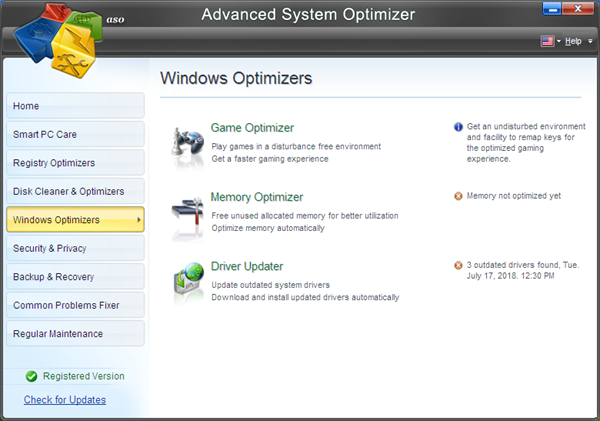 Advanced System Optimizer 3.9.3645.18056 With Crack [Latest]