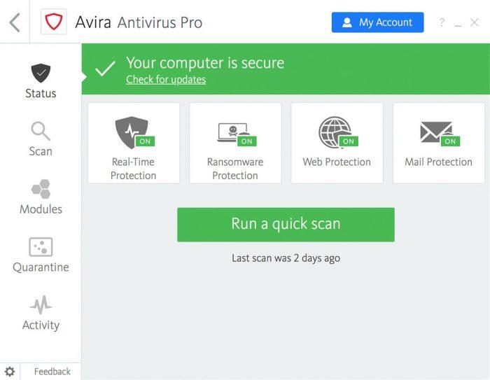 Avira Antivirus Pro Key Download 2021